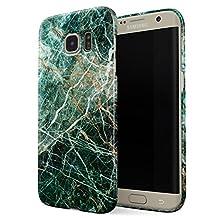 BURGA Samsung Galaxy S6 Edge Case, Dense Jungle Emerald Green Jade Stone Marble Thin Design Durable Hard Shell Plastic Protective Case For Samsung Galaxy S6 Edge
