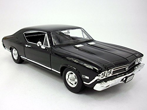 Chevrolet Chevelle (1968) SS-396 1/24 Scale Diecast Metal Model - BLACK
