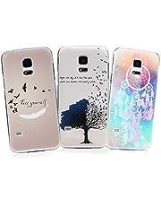 S5 Mini Case YOKIRIN 3x Hülle für Samsung Galaxy S5 Mini Hardcase Handyhülle Skin Painted Gemalt PC Durchsichtig Transparent Rahmen Telefon Kasten Schutzhülle Case Cover Muster: Unicorn