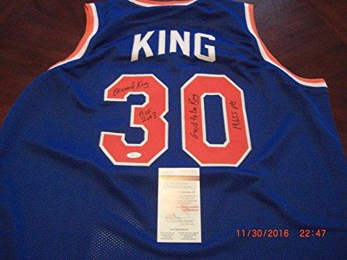 Bernard-King-New-York-Knicks-Hof-2013good-To-Be-King-Blue-Jsacoa-Signed-Jersey-Autographed-NBA-Jerseys