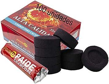 [Pack] rollos de carbón para cachimba, shisha, hookah, narguile e incensario (100)