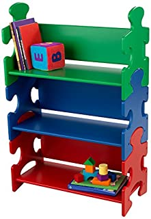 KidKraft Wooden Puzzle Piece Bookcase with Three Shelves - Primary (B0001XAHM2) | Amazon price tracker / tracking, Amazon price history charts, Amazon price watches, Amazon price drop alerts