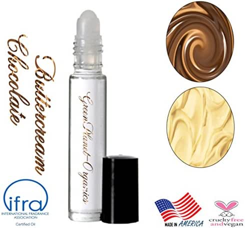 Set of 2: Buttercream Chocolate Perfume Oils (Top notes of fresh Buttercream with nuances of silky smooth Chocolate!) Phthalate Free & Made in USA