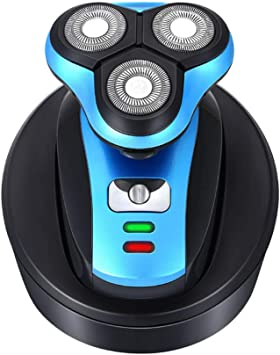 Afeitadora eléctrica USB afeitadora seca y seca cabeza trimmer ...