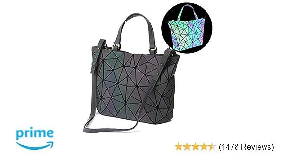 d9fd864aea3 Amazon.com  HotOne Geometric Luminous Purses and Handbags Shard Lattice  Holographic Purse Fit 14