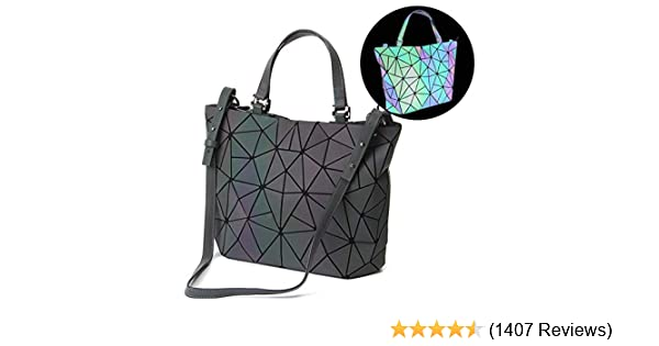 87fd39efe706 Amazon.com  HotOne Geometric Luminous Purses and Handbags Shard Lattice  Holographic Purse Fit 14