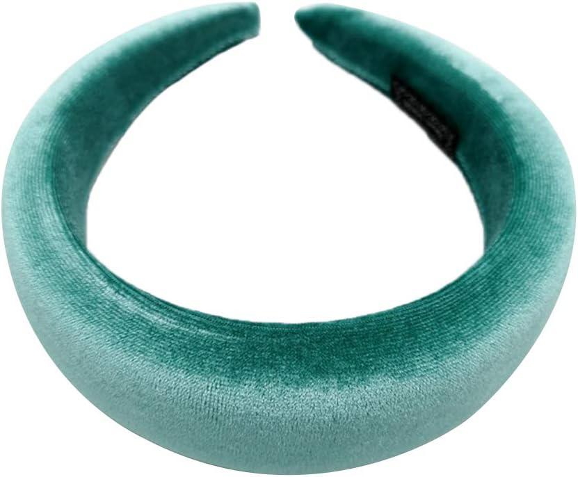 Cerchietto per capelli da donna 11 colori disponibili Grigio Siwetg colorato morbido in velluto lucido imbottito ed elastico per feste