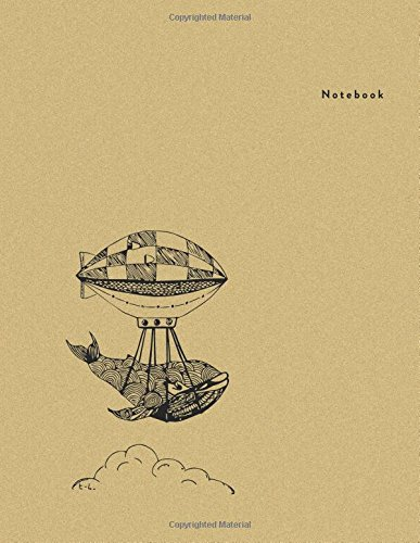 Notebook: Floating Whale - Minimal Design Unlined Notebook - Large (8.5 x 11 inches) - 110 Pages (notebooks and journals 8.5 x 11, notebooks for ... (Minimal Design Notebooks) (Volume 3)