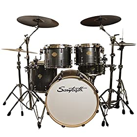 Sawtooth Command Series 5-Piece Drum Shell Pack, Silver Streak (ST-COM-5PC-SS) 11