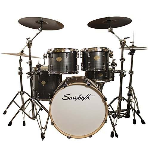 Sawtooth Command Series 5-Piece Drum Shell Pack, Silver Streak, ()