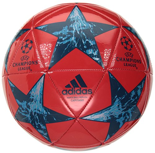 Adidas Red Ball Soccer (adidas Performance Champions League Finale Capitano Soccer Ball, Red/Petrol Night/Mystery Petrol/Blue Bot, Size 5)