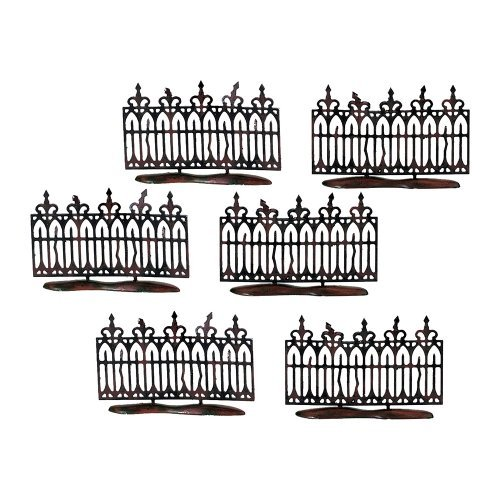 Department 56 Spooky Wrought Iron Fence Set of 6 by Department 56