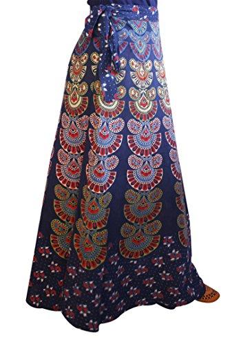 Wrap Around Cotton Long Skirt Free Size for Women (Design1)