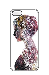 AWU DIYiphone 5/5s case -Double exposure portraits a simple tutorial for making surrealist images -Slim Smooth PC Hard Case Cover foriphone 5/5s
