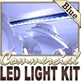 Biltek 3.3' ft Blue Jewelry Display DJ Stage LED Strip Lighting Complete Package Kit Lamp Light DIY - Storefront Windows Glass Displays Bar/Night Club Restaurants Counters Hotel Waterproof 110V-220V