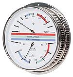 LUFFT Sauna Thermometer + Hygrometer 6.3'', Chromed Brass, Color Display German, 5094.00 (°C version)