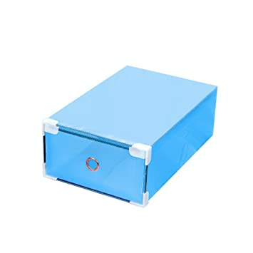 TiooDre - Cajas de zapatos con tapa, transparentes, apilables, versátiles, para manualidades