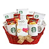 coffee and tea gift basket - California Delicious Starbucks For A Special Someone Gift Basket