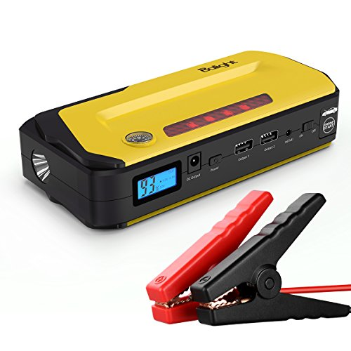 Gasoline Pack - Balight Jump Starter Portable Car Battery Booster 800A Peak 18000mAh for 6.5L Gasoline 5.0L Diesel Engine, Emergency Battery Jump Pack/Charger with Flash Light, LCD Screen, Compass and Smart Charging