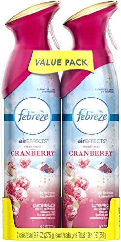Febreze Air Effects Fresh Twist Cranberry Air Freshener (2 Count, 19.4 Oz), 1.239 Pound