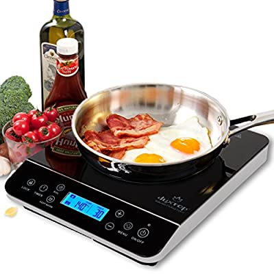 Duxtop LCD 1800-Watt Portable Induction Cooktop Countertop Burner 9600LS from Secura