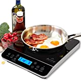 induction burner range - Duxtop LCD 1800-Watt Portable Induction Cooktop Countertop Burner 9600LS