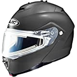 HJC Solid With Electric Lens Adult IS-Max 2 Snocross Snowmobile Helmet - Matte Black / Medium
