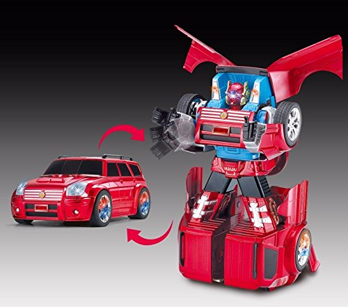 RCリモートコントロール変形車、リモートコントロール変化車車おもちゃ、rcは、ロボットモデルを変形させた