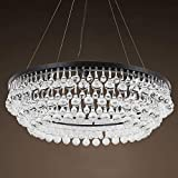The United States French Nordic postmodern style chandelier guest restaurant bar aisle study bedroom crystal lighting 10 Lights Black Metal + Clear Glass Drops CZ2534MB/10