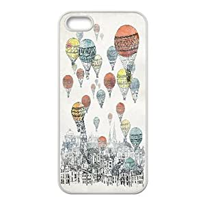 Case For Htc One M9 Cover Cases, Cute Girly & Cheap Cartoon Colorful Ballon in the sky Cases For Case For Htc One M9 Cover {White}