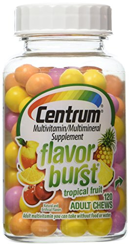 - Centrum Multivitamin Adult Chews, Tropical Fruit, 120 ct