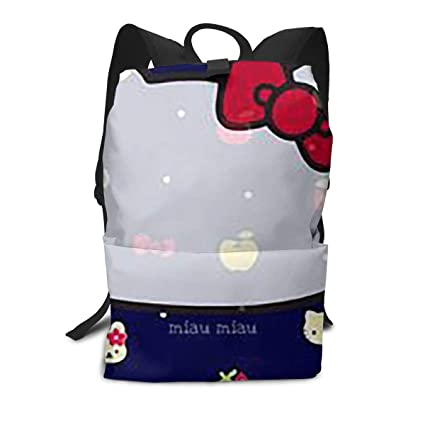 c136de8cc Amazon.com: Adult Travel Laptop Backpack - Hello Kitty Head Business ...