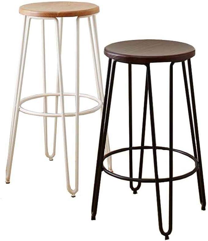 QTQZDD Sgabelli da Bar Cucina Pub Struttura in Metallo Sedia