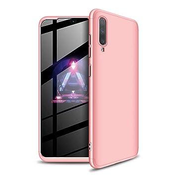 MISSDU reemplazo para Funda Samsung Galaxy A50 360 Carcasa Exact Slim de protección Completa Carcasa no Incluido y Protector de Pantalla, Oro Rosa