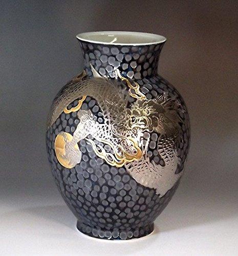 Arita - Imari pottery vase Platinum Dragon | gifts for men