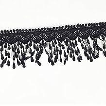 3 Yard tassels Lace Trim Flower Applique DIY Ribbon Wedding Sewing Craft