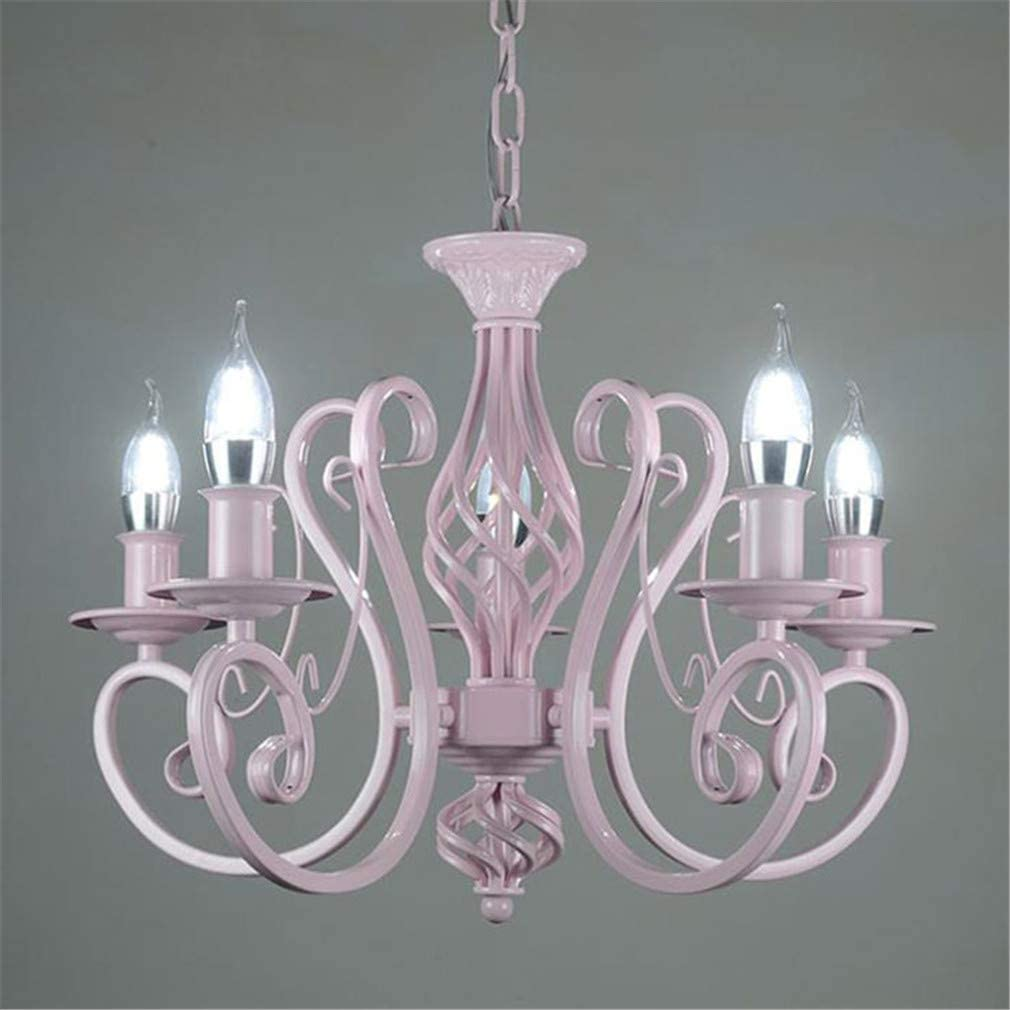 Light Pink LED Chandelier Lighting Modern Chandeliers Kitchen