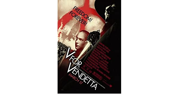 POSTER-V FOR VENDETTA ORIGINAL ROLLED MOVIE POSTER at Amazons Entertainment Collectibles Store