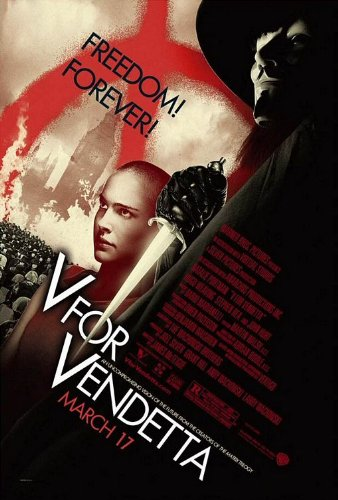 POSTER-V FOR VENDETTA ORIGINAL ROLLED MOVIE POSTER