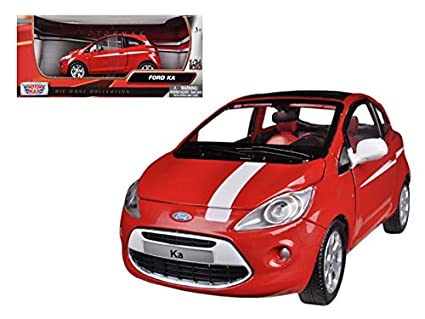 Ford Ka Red White   Car Model By Motormax