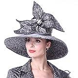 Kueeni Women Hats Special Designer Diamond Casing Wedding Party Church Hats