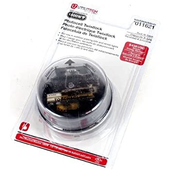 Woods 59412wd Outdoor Heavy Duty Twist Lock Light Sensor