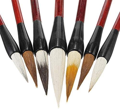 絵筆 1セット7PCS中国の筆ペン書道の伝統的な描画書き込み絵画アーティストペイントセット 掃除が簡単で実用的 (色 : Multi-colored, Size : 7pcs)