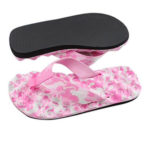 Ouneed® Damen Sandalen ,Sommer Summer Flip Flops Schuhe Sandalen Slipper indoor & outdoor Flip-Flops Zehentrenner Beach swimming pool Rosa