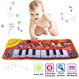 PROACC Piano Playmat, Kids Keyboard Music Playmat Toy, Funny Dancing Mat for 3-36 Months Babies Toddler Boys and Girls Gift