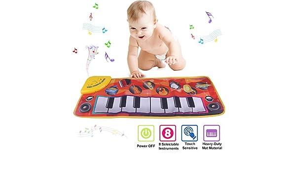 Piano Estera, Niños Electrónico Teclado Música Tapete de juego Juguete, Gracioso Bailando Mat para 3-36 Meses Criaturas Niñito Chicos y Chicas Educativo ...