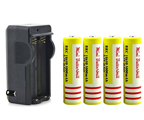 mini-butterball-4pcs-5000mah-37v-li-ion-18650-rechargeable-yellow-batteries-with-wireless-dual-18650