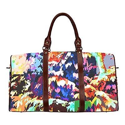 Foliage Patchwork Custom Waterproof Travel Tote Bag Duffel Bag Crossbody Luggage handbag Jera Nour