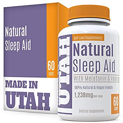 Natural Sleep Aid Is An All-Natural Sleep Formula That Combines Melatonin, Valerian Root And Non-Addictive Extracts Into A 100% Safe Sleeping Pill That Will Allow You To Get a Full Night's Rest