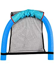 vwlvrsco Pool Noodle Floating Chair Swimming Seats Adult Traval Floa Bed Chair Toy Funny Pool Float for Kids and Adult Floating Pool Noodle Sling Mesh Chairs - Water Relaxation